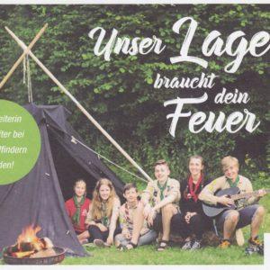 Flyer - Unser Lager braucht dein Feuer